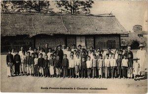 CPA AK VIETNAM Ecole Franco-Annamite a Chaudoc (Cochinchine) (94257)