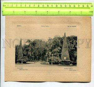 431549 BRAZIL RIO de JANEIRO Public Garden Vintage Embossed POSTER