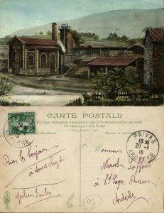 france, PRIVAS, Mines de l'Horme, Mining (1916) Postcard