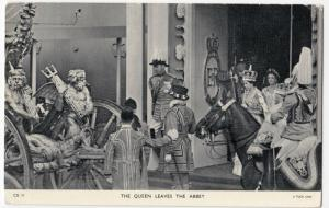 Royalty; The Queen Leaves The Abbey PPC By Tuck, Unposted, Coronation Day Card