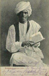 straits settlements, SINGAPORE, Native Fortune Teller (1907) Postcard