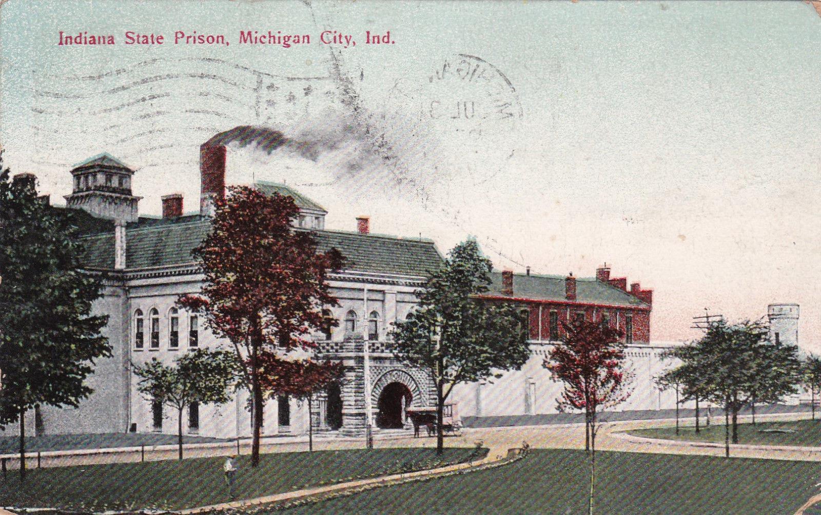 Michigan City Indiana 1900 1910s Indiana State Prison Hippostcard