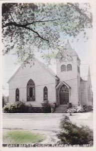 Wisconsin Plainfield First Baptist Church Real Photo RPPC