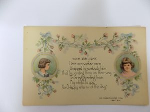 1925 Birthday Greeting Postcard