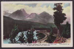 Mts Temple,Fairview,Saddleback,Alberta,Canada Postcard