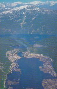 Canada Aerial View Ocean Falls British Columbia