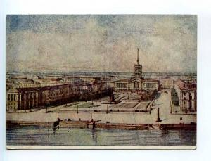250595 USSR LENINGRAD Finland square project BENOIS 1948 year