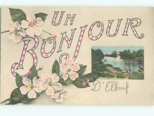 Very Old Foreign Postcard BEAUTIFUL FLOWERS SCENE AA4240