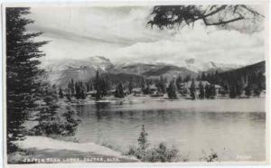 RPPC of Jasper Lake Lodge, Jasper, Alberta, AB, Canada,1938