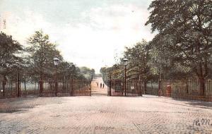 Scotland, UK Old Vintage Antique Post Card Entrance to Queen's Park Glas...