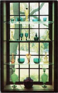 Sandwich Glass Museum Green and Canary Window exhibit  - Massachusetts