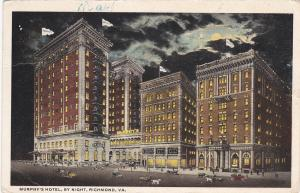RICHMOND , Virginia , PU-1918 ; Murphey's Hotel at night