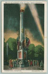 Philadelphia Pennsylvania~Sesqui-Centennial Expo~One of 13 State Columns~1926