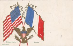 France & United States Flag 1908
