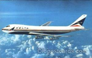 Delta Airlines, Boeing 747 Airline, Airlines, Airplane, Airplanes, Postcard P...