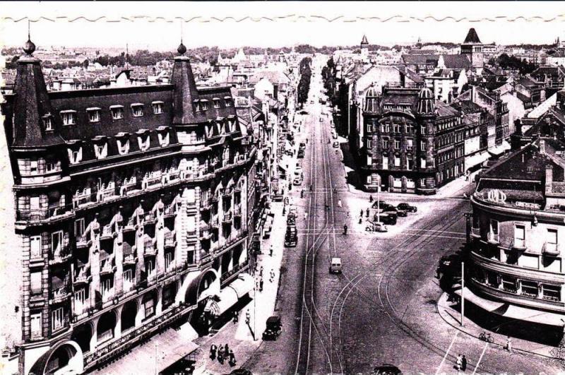 Aerial View, Place de la Gare et Avenue de la Liberation,Street Car, Luxembou...