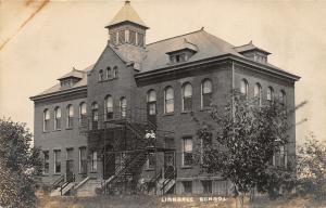 F61/ Linndale Cleveland Ohio RPPC Postcard c1910 School House Building
