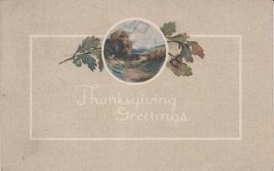 Thanksgiving Post Card 1916 w/Party Invitation on Back