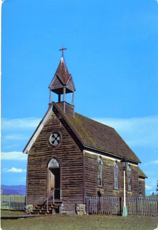 POSTCARD   St. Ann's Church, The O'Keefe Ranch, Vernon BC. Canada
