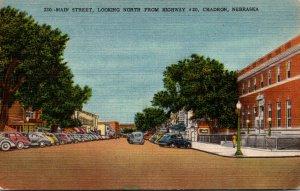 Nebraska Chadron Main Street Looking NOrth From Highway #20 1951