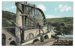 Laxey Wheel, Isle of Man PPC, Unposted by Shureys