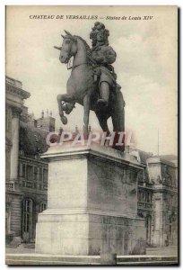 Old Postcard Chateau De Versailles of Louis XIV Statue