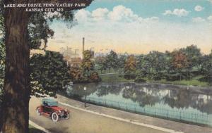 Lake and Drive, Penn Valley Park, Kansas City,Missouri,PU-1925
