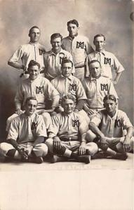 Real Photo Maquoketa, Iowa, USA Athletics Baseball Postcard Maquoketa, Iowa,...