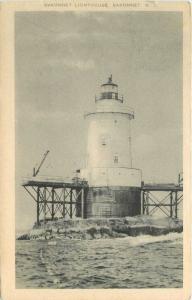 Artvue 1954 Sakonnet Lighthouse Rhode Island postcard 6533