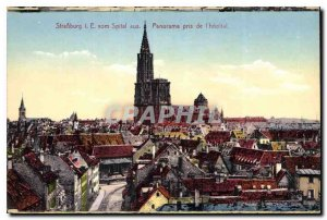 Postcard Old Strasbourg Panorama taken from hospital