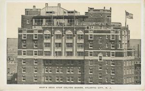 Ship's Deck Atop Colton Manor ~ Atlantic City NJ New Jersey ~ Hotel Postcard