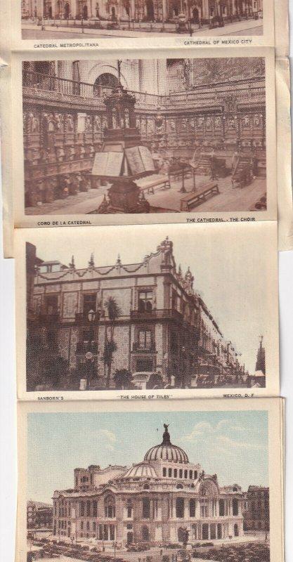 Views Of MEXICO, Folder Postcard, 1910-1930s
