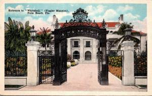 Florida Palm Beach El Mirasol Entrance To Whitehall The Flagler M...