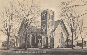 G23/ West Lafayette Ohio Postcard c1940s Trinity Methodist Church Building 6