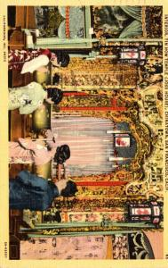 California San Francisco Chinatown Interior Tin How Temple Joss House 1947
