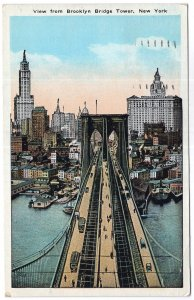 View from Brooklyn Bridge Tower, New York