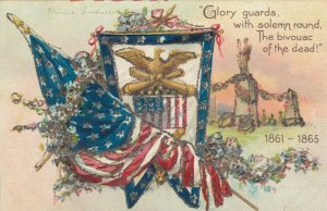 TUCK #107;  Glory guards with solemn round The Bivouac of the dead! 1900-10s