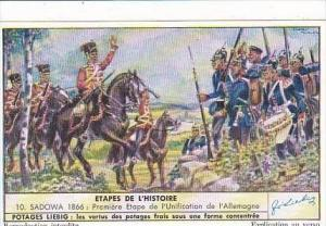 Liebig Trade Card S1555 Important Historic Battles II No 10 Sadowa