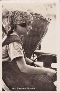 RP Ticinese Woman with baskets , Switzerland , 10-20s