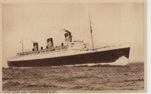 R.M.S. Queen Mary - Unused - B&W