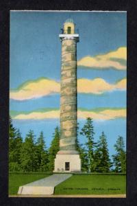 OR View Astor Column Astoria Oregon Vintage Postcard Carte Postale PC