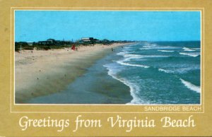 Virginia Virginia Beach Greetings Sandridge Beach