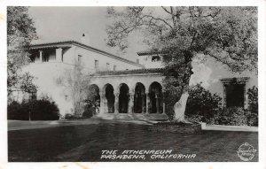 LP56 Pasadena California Postcard RPPC Athenaeum Frashers Foto