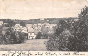 DARK HARBOR WALDO COUNTY MAINE PANORAMA OF THE VILLAGE~W A RICKER POSTCARD 1905