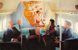 Western Airlines Electra Jet Cabin Interior Flight Attendant Postcard JF685751