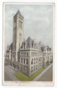 Pittsburgh PA Court House 1912 Photostint Postcard Pittsburg