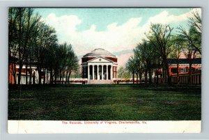 Charlottesville VA-Virginia, University Of Virginia The Rotunda Vintage Postcard