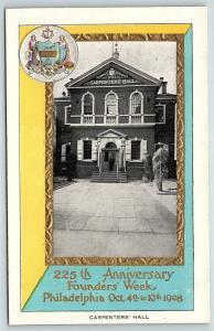 Postcard PA Philadelphia 225th Anniversary Founders Week Carpenters Hall R48