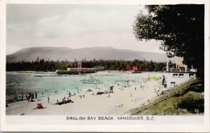 English Bay Beach Vancouver BC Gowen Sutton c1942 Real Photo Postcard F66