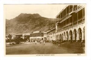RP ; Street view, Round the Crescent, Hotel Del'Europe, Aden , Yemen, 1910-30s